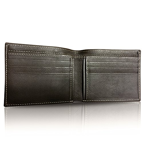 Box Flannel (Handmade Men's Leather Wallet in Brown, 100% Cow Leather, Super Soft, Slim, Bifold Wallet. Classic Style. Packed in Box with Flannel Cover. Best Gift for Valentine. Guaranteed Satisfaction.)
