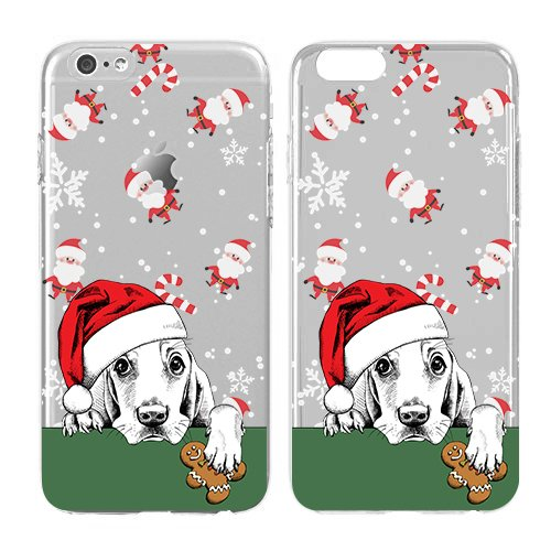 Christmas Iphone Case, Cool Christmas Gifts, Snowflake, Puppies Soft Flexible Transparent Skin, Scratch Proof Protective Slim Case for iPhone 5C