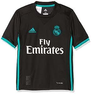 adidas A JSY Y Camiseta 2ª Equipación Real Madrid 2017-2018, niños, Negro/arraer, 128