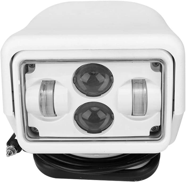 Barco Searchlight, IP67 Impermeable 60W LED 6800 LM Luz Búsqueda Remoto Control Portátil Automóvil 6000K Lámpara Trabajo Focos Marinos Aire Libre Luz Techo con 50000 Horas Vida útil para Yates SUV etc