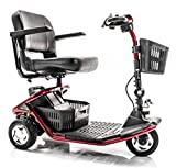 Golden Technologies - LiteRider - Lightweight Travel Scooter - 3-Wheel - Red