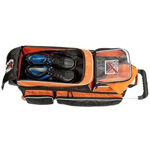 KR Strikeforce Krush Triple Roller Bag, Black/Orange