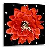3dRose DPP_32364_3 Decorative Colorful Garden Botanic Classic Plant Sw Southwest Desert Cactus Red Black Flower Wall Clock, 15 by 15''