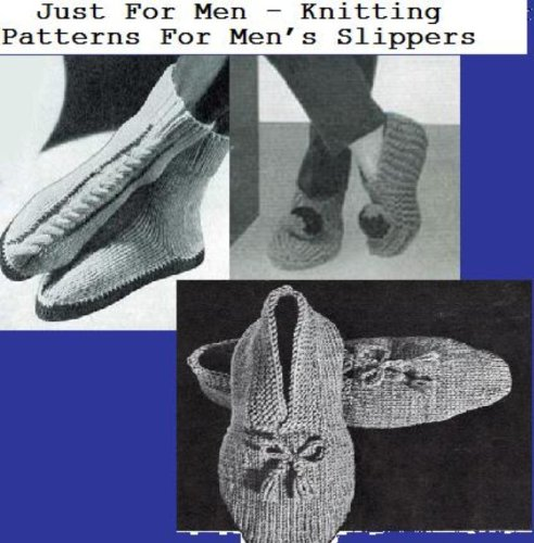 Just For Men – Knitting Patterns For Men's Slippers ()