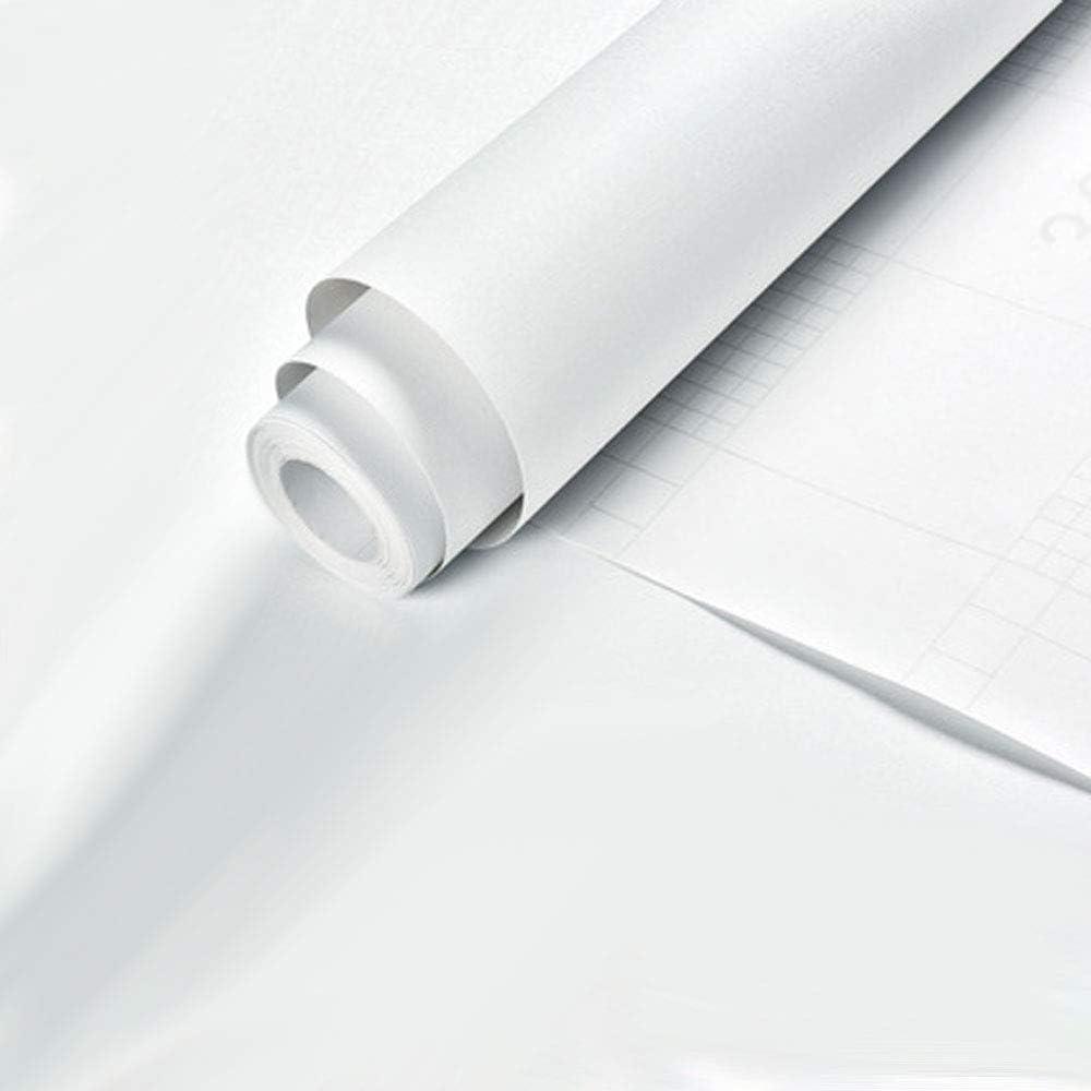 revestimiento de estante papel pintado de PVC autoadhesivo papel pintado de dormitorio para paredes papel pintado blanco autoadhesivo Kitchen-dream Papel pintado de color s/ólido