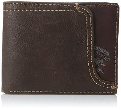 Levi's Men's Leather Passcase Wallet,Brown