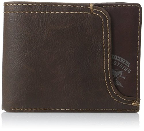 Levis Mens Leather Passcase Wallet
