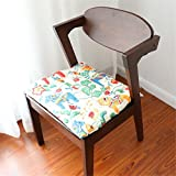 QsyyHome Pastoral Fresh Style Handmade Decorative Colorful Horse Cotton and Tingle Folded Chair Pads Seat Cushion Hand Patchwork Cushion with Straps
