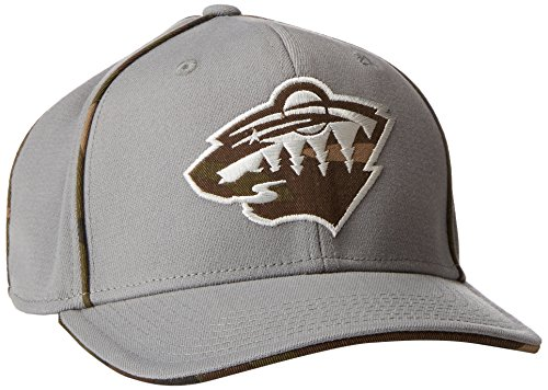 fan products of NHL Minnesota Wild Men's SP17 Gray Camo Structured Flex Cap, Gray, Large/X-Large