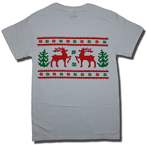 Amazing Apparel Ugly Christmas Sweater T-Shirt , XL