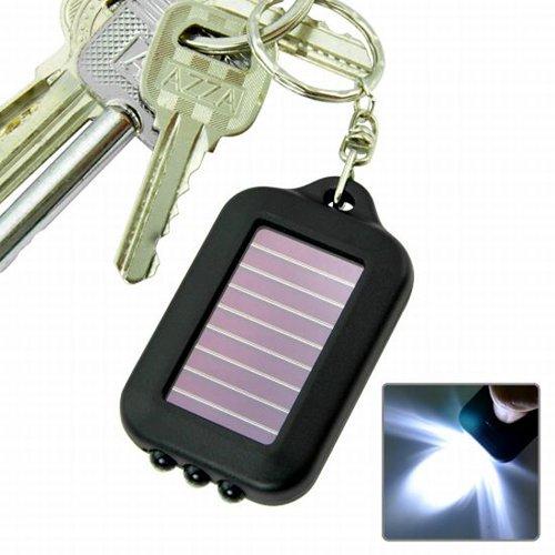 TOOGOO(R) Solarbetriebene LED-Taschenlampe Licht mit Schluesselanhaenger