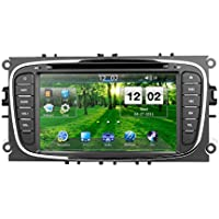Ford Focus 2009 2010 2011 GPS Navigation Radio System, 7 Inch Car Digital Touchscreen Bluetooth in-dash Navigation System Support CD, DVD, AUX, SD/USB, FM/AM, MirrorLink Car Stereo Multimedia Player