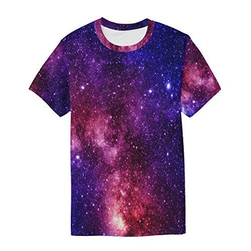 Crew Coloré Courtes À Casual Manches Multicolore Tee T Et Homme Alaza shirt Nébuleuse Galaxy Neck xnTWcPAS4