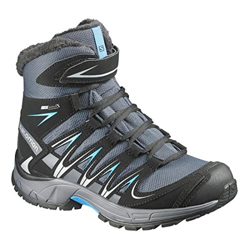 Salomon L37308800, Botas de Senderismo para Niños Gris (Grey Denim /         Black /         Methyl Blue)