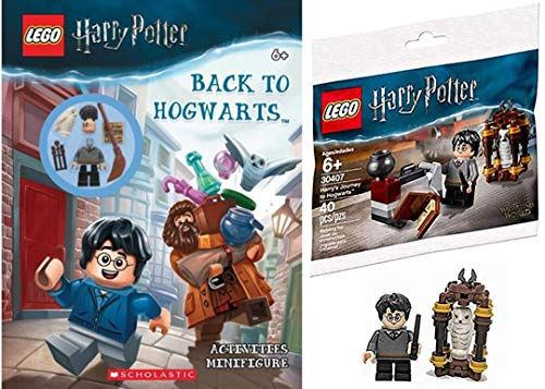 LEGO Back to Magical Wizards Harry Potter Mini Figure Brick Set Journey to Hogwarts Building with Hedwig + Bundled with Activity Book Back to Hogwarts buildable Minifigure