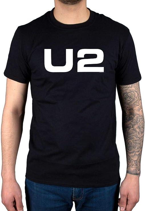 Camiseta Grupo Rock U2 Hombre color negro