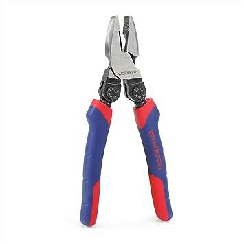 WORKPRO Alicate Conbinación de Mango Pistola 8 Pulgadas: Amazon.es: Bricolaje y herramientas