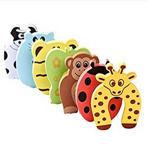 TuDu 6 Pcs Animal Designs Amortisseur de Porte en Mousse Protecteur Anti pincement de Doigts pour Bébés Enfants