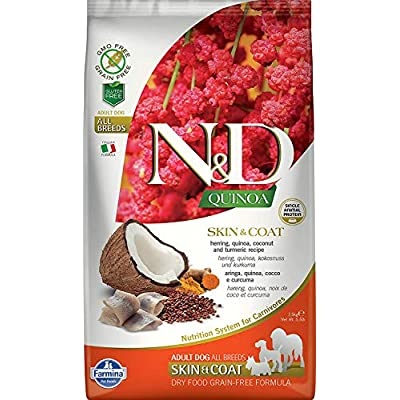 Farmina N&D Functional Quinoa Skin & Coat Herring Dry Dog Food 15.4 Pounds