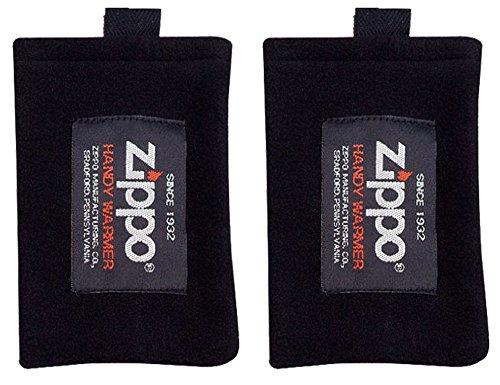 ZIPPO(지포) 핸디 워머(Warmer) 교환용 후리스 교체 양털 가방  ZHF-BK2 ×2매 HANDY WARMER FLEECE