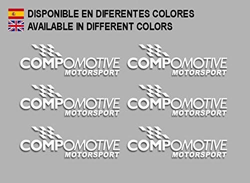 Blanco Ecoshirt QL-UVOA-L8V3 Pegatinas Compomotive F194 Stickers Aufkleber Decals Adesivi Rallye Racing