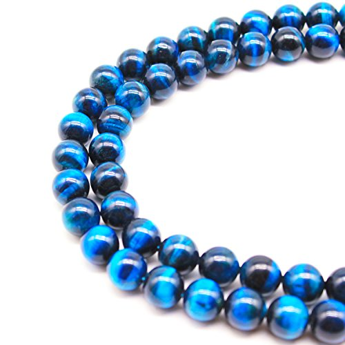 JARTC Rare Collection Natural Beads Sky Blue Tigereye Round Loose Beads For Jewelry Making Diy Bracelet Necklace (4mm)