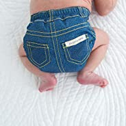SmartNappy Blue Jeans by Amazing Baby, NextGen Hybrid Cloth Diaper Cover + 1 Tri-fold Reusable Insert + 1 Reus