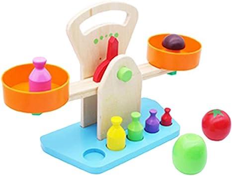 Toyvian Escala de Equilibrio de Madera Juguete Jardín de Infancia Juguetes de Aprendizaje temprano para niños: Amazon.es: Juguetes y juegos
