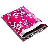 100 10x13 Pink Aloha Designer Hawaiian Poly Mailers Shipping Envelopes Boutique Custom Bags