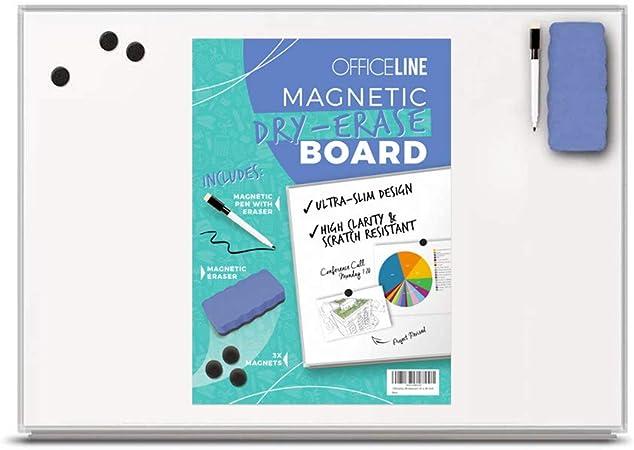 Officeline Ultra-Slim, Lightweight Magnetic Dry Erase Board & Accessories