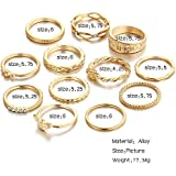 New 12pcs Boho Women Stack Plain Above Knuckle Midi Finger Tip Rings Set Walking Street
