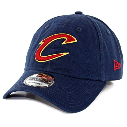 New Era NBA Cleveland Cavaliers Core Classic 9Twenty Adjustable Cap, Navy, One Size (Hat Cavaliers Cap Cleveland)