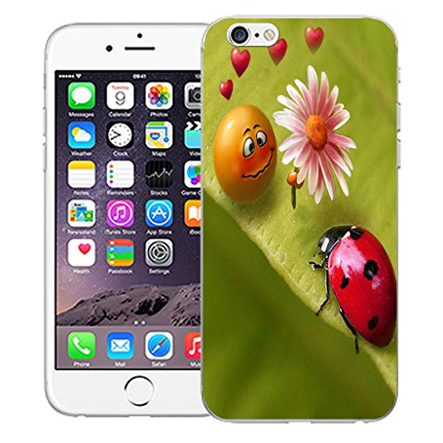 """Mobile Case Mate iPhone 6 4.7"""" Silicone Coque couverture case cover Pare-chocs + STYLET - Love Bugs pattern (SILICON)"""