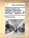 Origines Hebrææ, Thomas Lewis, 1140967703
