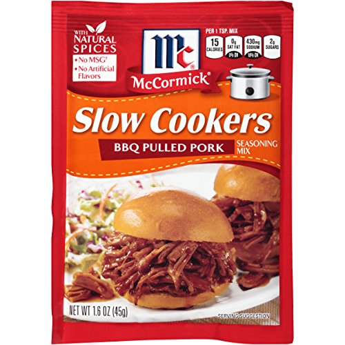 McCormick Slow Cookers BBQ Pulled Pork Seasoning Mix, 1.6 OZ (Pack of 12)