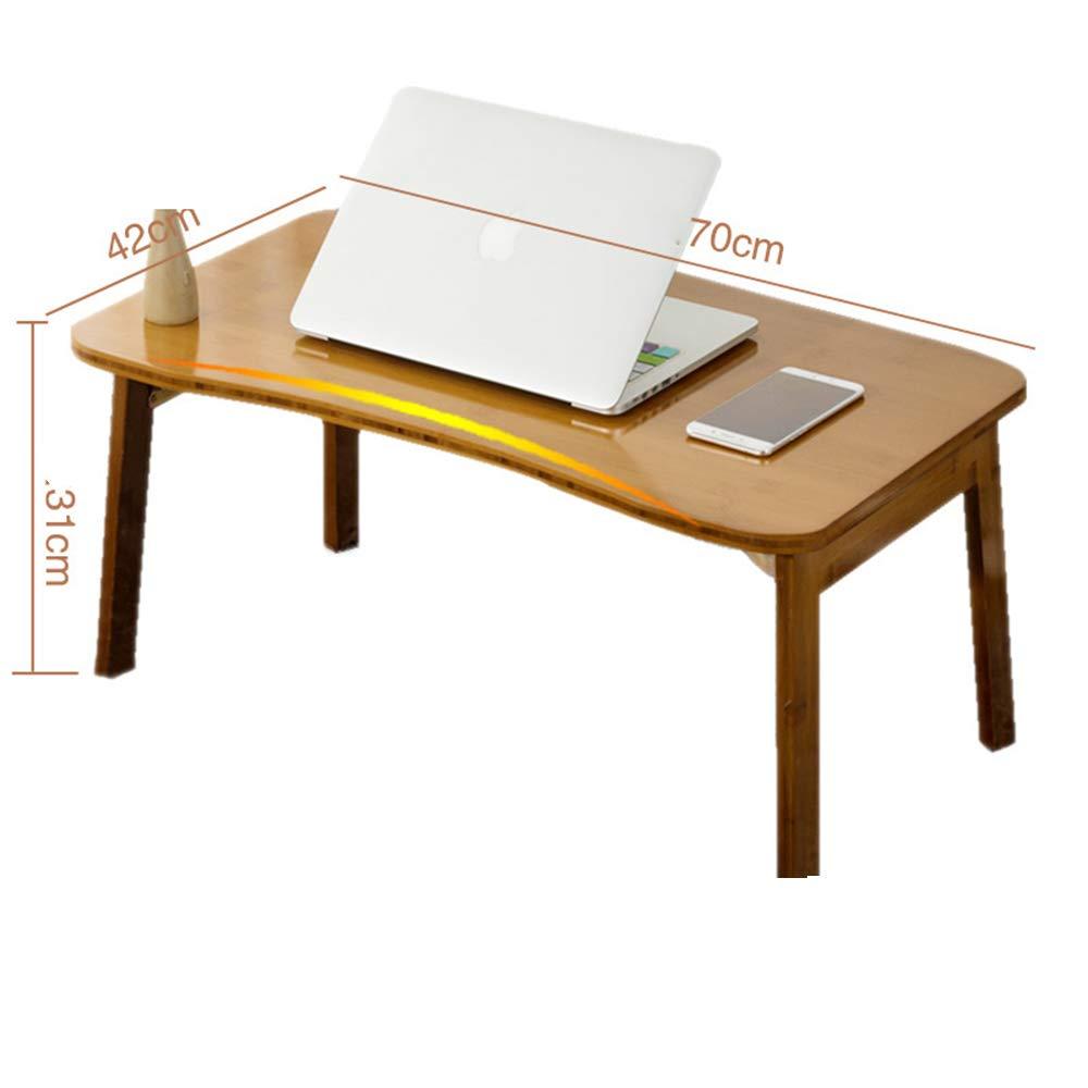7042cm YNN Foldable Computer Desk Free Inssizetion Laptop Desktop Table 70  42cm 80  50cm Tea Table (Size   70  42cm)