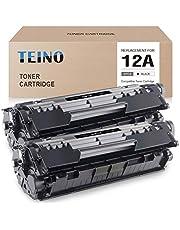 TEINO Compatible Toner Cartridge Replacement for HP 12A Q2612A for HP Laserjet 1020 1010 1012 1018 1022 3015 3030 3050 3055 3020 1022n 3052 M1005 M1319f MFP (Black, 2 Pack)