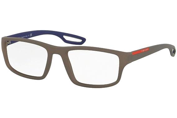 9fd367c2aa2 Prada PS09GV Eyeglasses 53-18-140 Brown Rubber w Demo Clear Lens UR41O1  VPS09G VPS 09G PS 09GV  Amazon.co.uk  Clothing