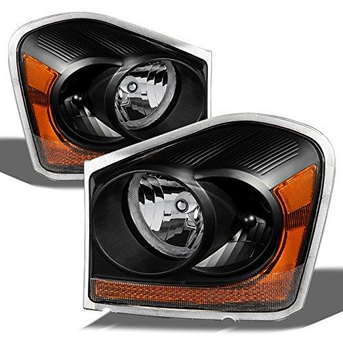 For Dodge Durango OE Replacement Black Bezel Headlights Driver/Passenger Head Lamps Pair ()