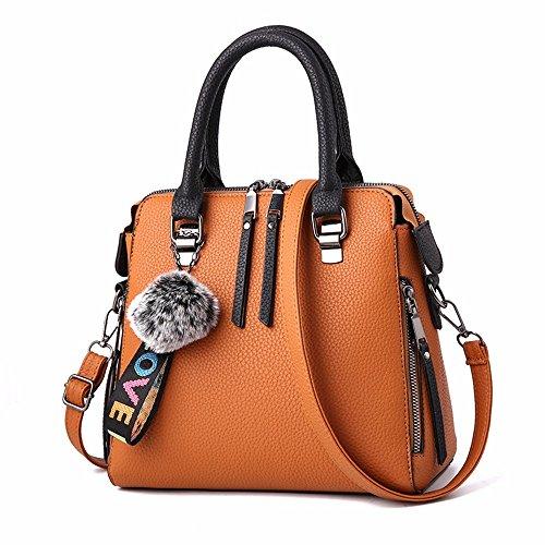 de CCZUIML Mujer Transpirable Bag Bolso la de Transpirable Rojo Moda de Hombro amarillo Bolso wZXSqUBrZ