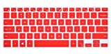 """CaseBuy Ultra Thin Silicone Keyboard Cover Protector Skin for 15.6"""" DELL XPS 15-9550 15-9560, Precision 15-5510 M5510 US Layout (Red)"""