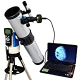 Silver 3'' GPS Computer Controlled Reflector Telescope with 3MP Digital USB Camera
