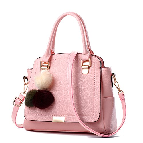 Primavera Violeta Bola GUANGMING77 Bolsa Pink Colgante Bolsa De Pelo De Un7a8w0T