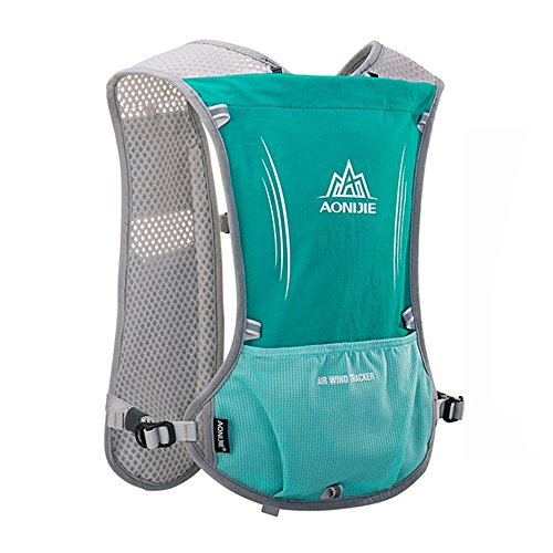 Price comparison product image AONIJIE Women Men Nylon Hydration Backpack Running Vest Pack Daypacks Cycling Hiking Camping, Sky blue