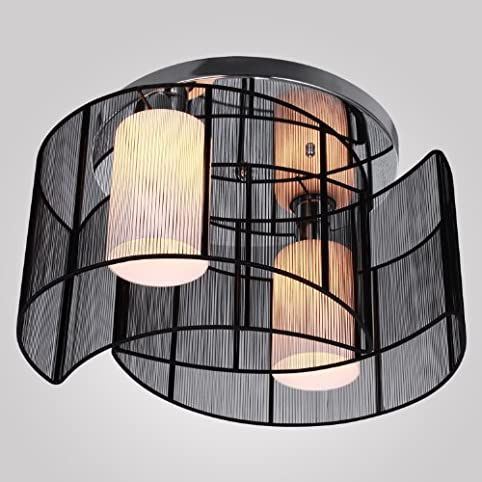 ALFRED® Black Semi Flush Mount With 2 Lights, Mini Style Chandeliers Modern  Ceiling Light Part 79