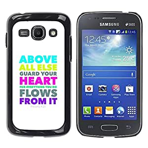 Paccase / SLIM PC / Aliminium Casa Carcasa Funda Case Cover para - BIBLE Proverbs 4:23 Above All Else Guard Your Heart - Samsung Galaxy Ace 3 GT-S7270 GT-S7275 GT-S7272