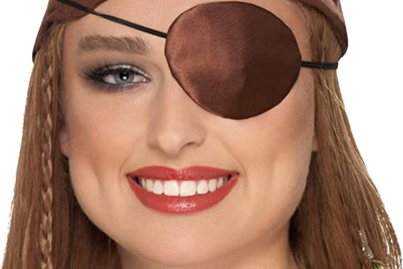 Smiffys Pirate Eyepatch Female One Size Red