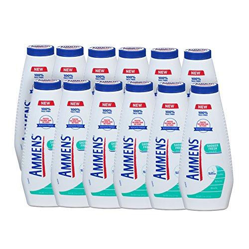 Ammens Shower Fresh Talc Free Body Powder (Pack of 12)
