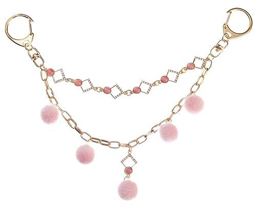 6af75b42d Amazon.com: Giftale Women's Purse Charm Keychain,Pink Pom Pom Bag Charm,#0823-E6:  Shoes