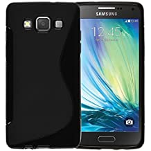MOONCASE Galaxy A5 (2015) Case, S-Line Soft Gel TPU Case Cover for Samsung Galaxy A5 (2015) Anti-Slip Flexible Silicone Protective Case Black